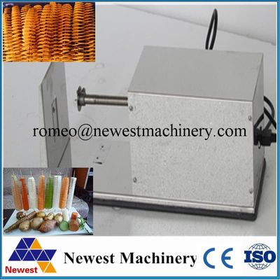 Electric spiral potato cutter for sale automatic tornado homemade potato chip vegetable slicer twister machine supplier