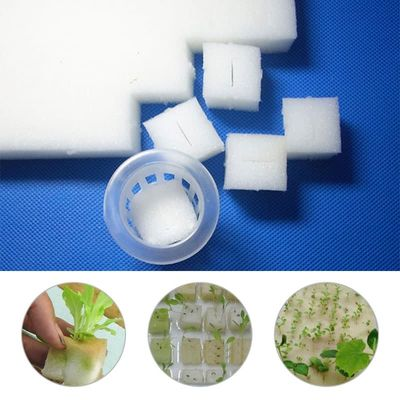 White Nursery Sponge 100pcs Practical Cultivation Planting Sponge Hydroponics Artificial Breeding Durable Seedling Sponge
