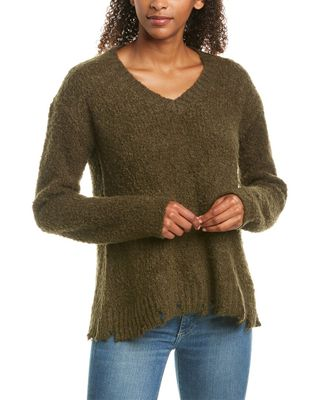 ATM Anthony Thomas Melillo Destroyed Alpaca & Wool-Blend Sweater