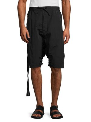 Unravel Project Nylon Drop-Crotch Shorts