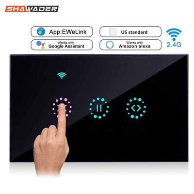 WiFi Smart Curtain Switch Suitable for Garage Door Electric Rolling Shutters Remote Control by Ewelink Amazon Alexa Google Home