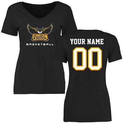 Kennesaw State Owls Women's Personalized Basketball T-Shirt - Black
