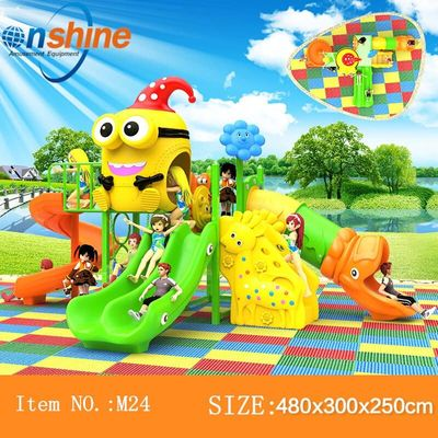 amusement outdoor playground equipment park slide play structure M24