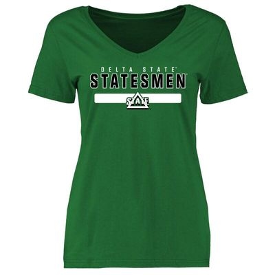 Delta State Statesmen Women's Team Strong T-Shirt - Kelly Green