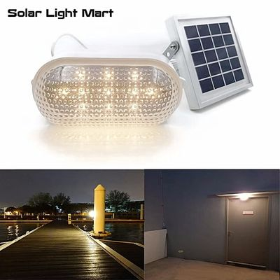 RIZE 120X Solar Outdoor Indoor Light Waterproof Auto 3 Power Modes Solar Powered LED Shed Light Kit Warm White