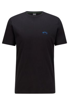 HUGO BOSS - Cotton Jersey T Shirt With Curved Logo