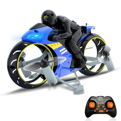 RC Land-air Dual Mode Fly Motorcycle Toy Remote Control Four Axis Motor Bike Airplane Crash-Resestant