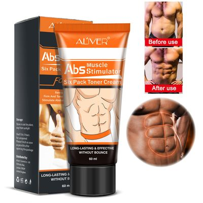 New Six Pack Toner Cream Beauty Men Muscle Stronger Shaping Cream Anti Cellulite Fat Burning Cream Slimming Gel Remove Fat Cells
