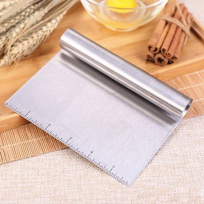 Stainless Steel Dough Cutter Pastry Spatulas Pizza Scraper Fondant Cake Decoration Tools Kitchen Accessories Baking Cutters Tool
