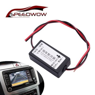 SPEEDWOW Car Rearview Camera Power Relay 12V Car Backup Camera Relay Regulator Car Camera Power Relay Capacitor Filter Connector