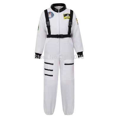 Astronaut Costume for Kids Jumpsuit Role Play Boys Girls Teens Toddlers Children's Astronaut Space Suit Halloween White Cosplay