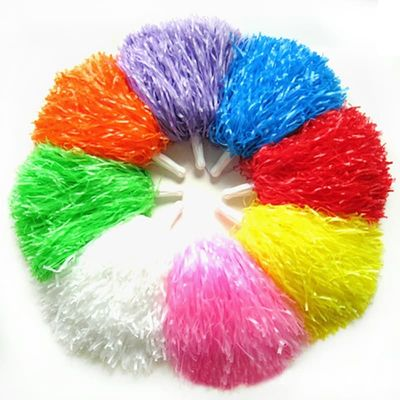 3Pair/Cheering pompom Flower Cheerleaders Took Ball Bouquet Cheerleaders Hand Flowers Rings and Plastic Handles for Sports Match