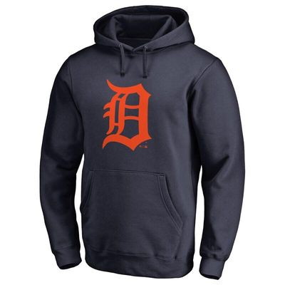 Detroit Tigers Team Color Primary Logo Pullover Hoodie - Navy