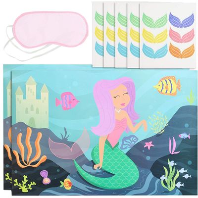 Pin The Tail Mermaid Party Game (2 Pack)