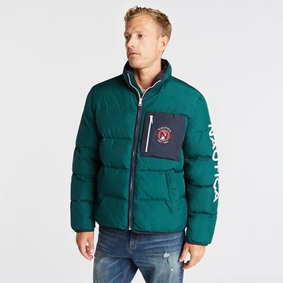 Nautica Big & Tall Puffer Jacket With Tempasphere