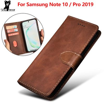 Leather Case for Samsung Galaxy Note 10 Wallet Case for Samsung Galaxy Note10 Pro Shockproof Soft Shell Cover with card holder