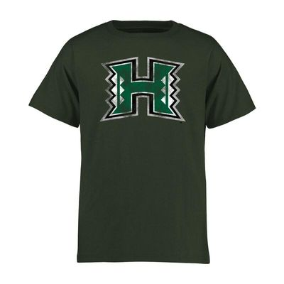 Hawaii Warriors Youth Classic Primary T-Shirt - Green