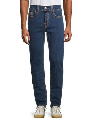 True Religion Mid-Rise Relaxed Straight-Fit Jeans