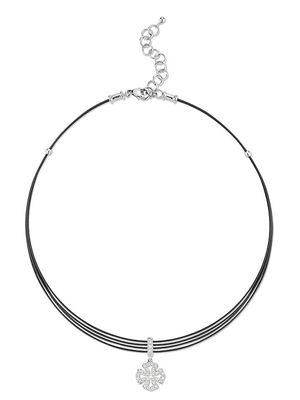 Alor 18K White Gold, Stainless Steel & Diamond Necklace
