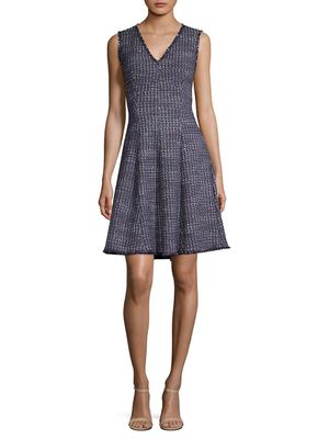 Rebecca Taylor Tweed Fit-and-Flare Dress
