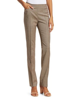 Akris punto Francoise Plaid Wool-Blend Pants