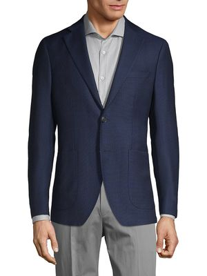 Saks Fifth Avenue Made in Italy Plaid Wool Sport Jacket