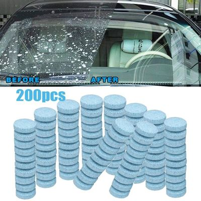 20/50/100/200Pcs Car Solid Cleaner Concentrated Effervescent Tablets Spray Cleaner Car Glass Household Cleaning Car Accessories