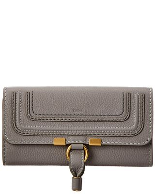 Chloe Marcie Long Leather Flap Wallet