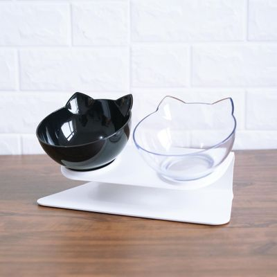Non-slip Cat Bowls Double Bowls With Raised Stand Pet Food And Water Bowls For Cats Dogs Feeders Cat Bowl Pet Supplies 29