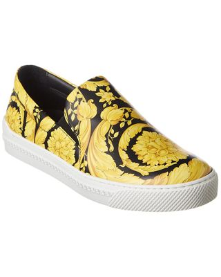 Versace Barocco Leather Loafer