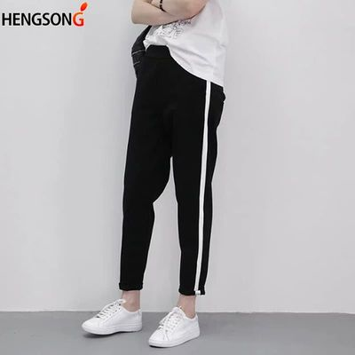 Women Sports Pants Ankle Length Breathable Striped Running Workout Tennis Pants Gym Training Fitness Pants Woman Tracksuit