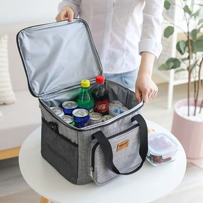 Outdoor Cooler Bag For Steak Thicken Folding Camping Waterproof Canvas Lunch Backpack Insulated Thermal Bag Insulation Ice Pack