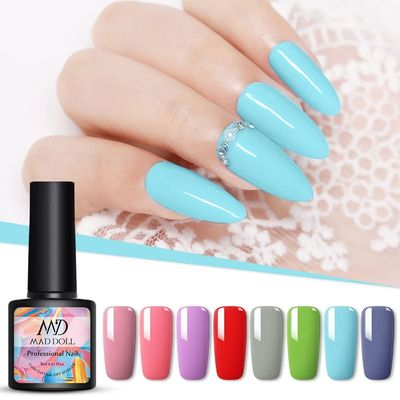 MD DOLL 8ml Sparkling Glitter Nail Gel Polish Shinning Sequins UV LED Painting Gel varnish  Varnish For