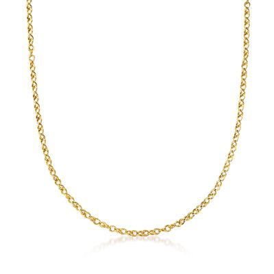 Ross-Simons Italian 18kt Yellow Gold Rope-Link Chain Necklace