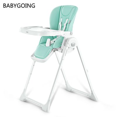 Multifunctional Children's Dining Table Chair One-button folding 8 adjustable height Safety Car Seat for 6 - 36 Month Baby
