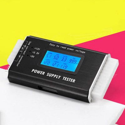 Power Supply Tester Digital 20/24 Pin Computer Check Display LCD Measuring PC LCD Power Supply Tester