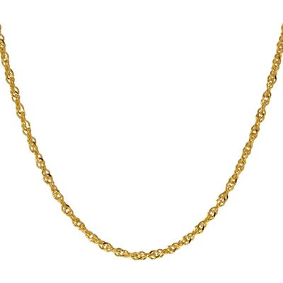 Women's Gold over Sterling Silver 040 Singapore Necklace, 18