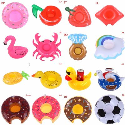 25 Types Pool Float Flamingo Drink Holder Inflatable Floating Swimming Pool Beach Party Swim Beverage Cup Holders Free Shipping