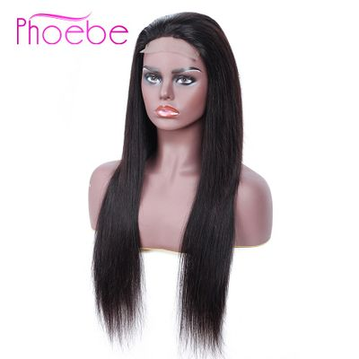 4X4 Lace Closure Wig Human Hair Wigs Straight Closure Wigs For Women 130% Density Non-Remy Pre-Plucked Brazilian Wig Phoebe