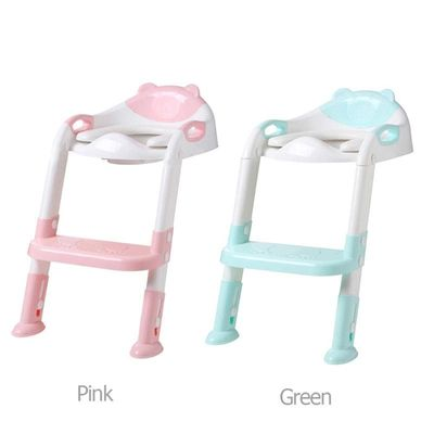 Baby Potty Seat Children Training Safety Toilet Seat with Adjustable Ladder