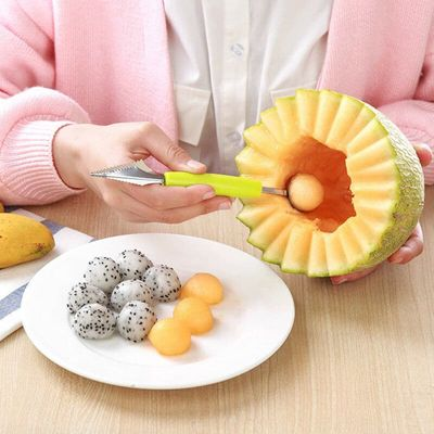 Creative Ice Cream Dig Ball Scoop Spoon Baller DIY Assorted Cold Dishes Tool Watermelon Melon Fruit Carving Knife Cutter Gadge