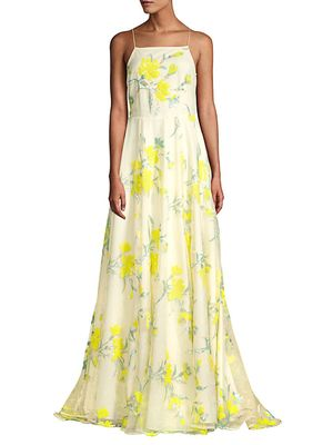 Mestiza New York Cecilia Sequined Floral Ball Gown