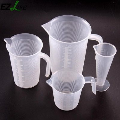 EZLIFE 100ml 250ml 500ml 1000ml Transparent cup scale Plastic measuring cup Measuring Tools for baking kitchen tools KT0151
