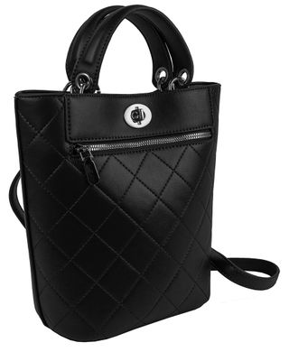 Ellen Tracy Quilted Top Handle Shopper Tote