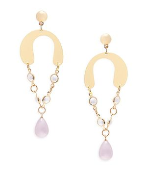 Natasha Faux Pearl Dangle Earrings