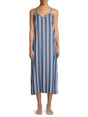 Pure Navy Classic Strappy Shift Dress