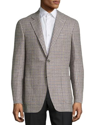 Canali Checked Wool Blazer