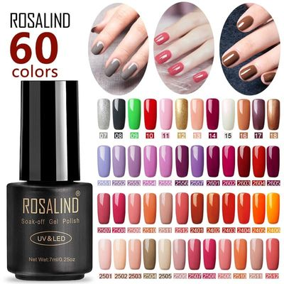 ROSALIND Nail Polish For Gel Nails Extension Polish Soak off UV Semi Permanent LED  Manicure Hybrid Nail Polish Gel Varnishes