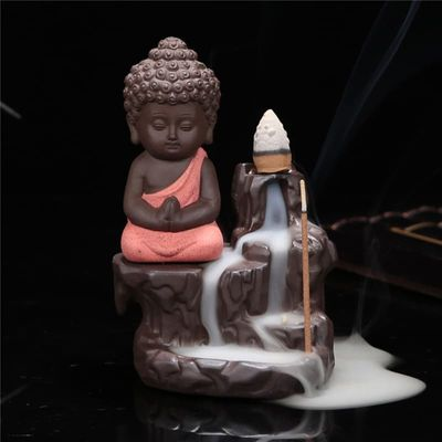 Chinese Ready-To-Paint Ceramics Buddha Ceramic Incense Burner Censer Holder Set With Joss Sticks Home Bedroom  Decor Decoration