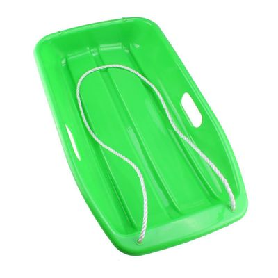 SEWS Plastic Outdoor Toboggan Snow Sled for Child,25.6-Inch,Green